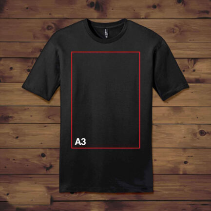 Dropship Crew Neck T Shirt with A3 - 11.7 x 16.5to Start T Shirt Printing Business at Home in India