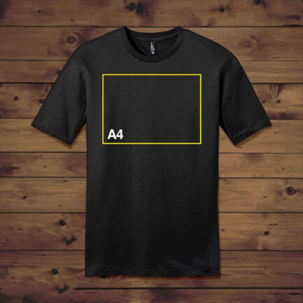 Dropship Crew Neck T Shirt with A4-11.7 x 8.3 to Start T Shirt Printing Business at Home in India