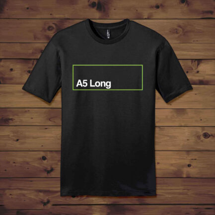 Dropship Crew Neck T Shirt with A5-long-11.7 x 4.25 to Start T Shirt Printing Business at Home in India